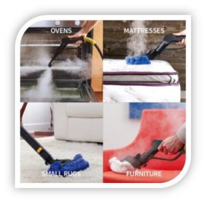 handheld steam cleaning surfaces