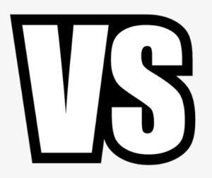 versus between different kinds of surfaces
