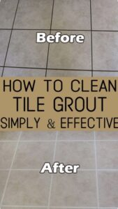how to deep clean tile floor and grout