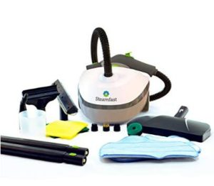 Steamfast bathroom steam cleaner with a large water tank