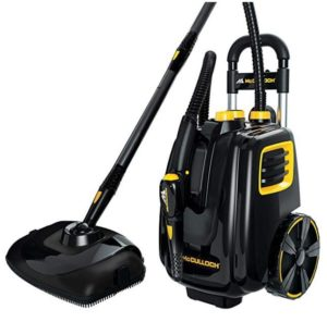 mcculloch mc1385 deluxe canister steam cleaner with 23 accessories for large room clean