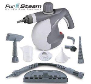 PurSteam handheld steam cleaner with light weight