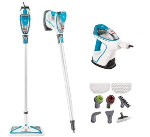 Bissell 2 in 1 floor steam mop and handheld steamer with attachments