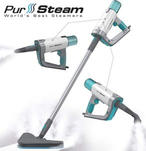 Compact PurSteam Steam Mop and Handheld Unit