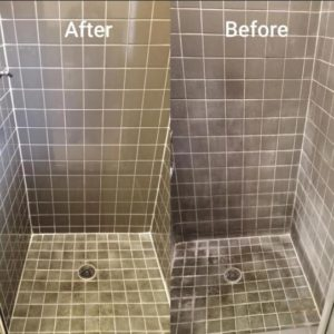 best way to clean bathroom grout