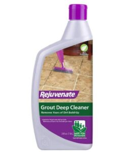Rejuvenate tile and grout cleaner for tile and grout