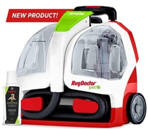 Rug Doctor portable home carpet cleaner with wheels and foldable handle