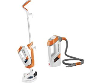 steaming concrete floors with versatile steam cleaner