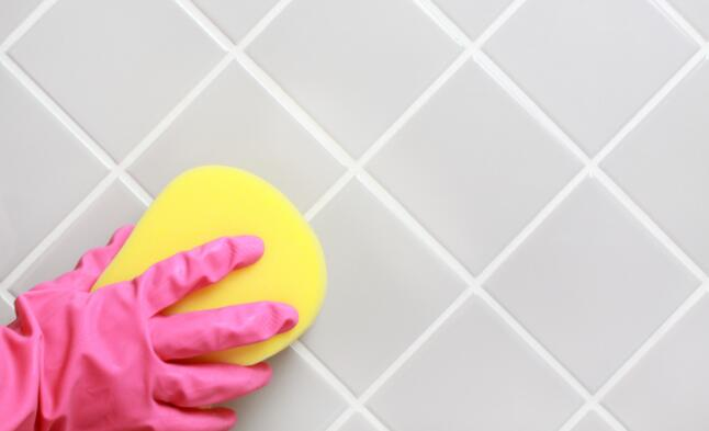 remove mold from shower grout