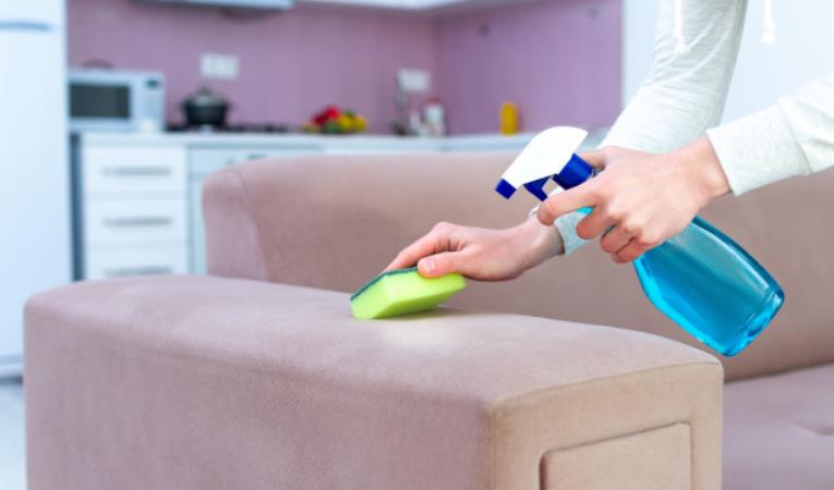 how to remove stains from rexine sofa