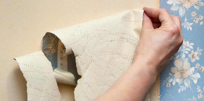 best way to steam wallpaper off