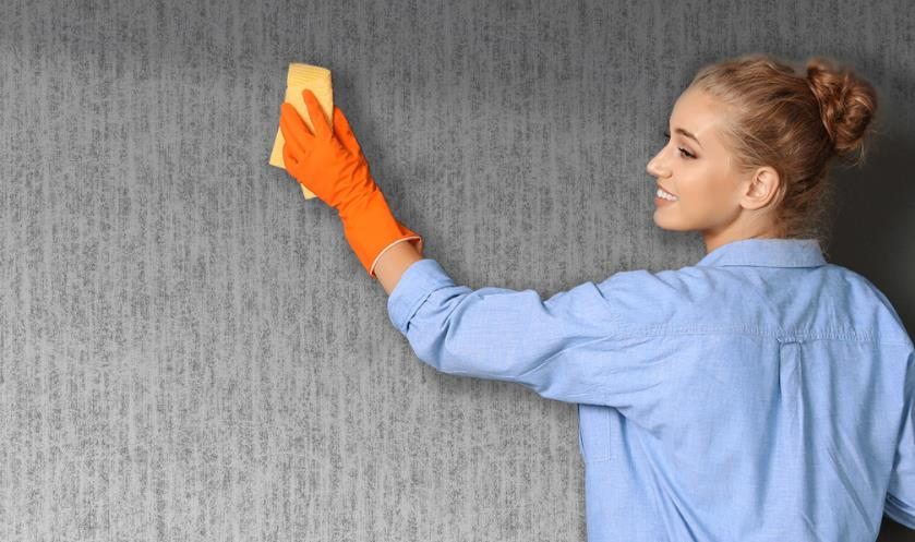 quickest way to get stains off wallpaper
