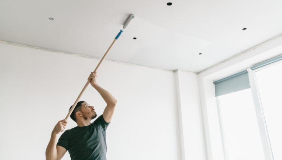 clean grease off popcorn ceiling